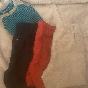 Boys bundle 3 shorts and 1 long sleeve